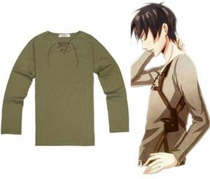 New Shingeki no Kyojin Attack on Titan T Shirt 코스프레 마치 남자들 한복 Eren Jaeger 티 탑 긴 Sleeve T-Shirt