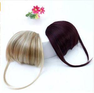 Frange Clip Dans Les Extensions De Cheveux Avant Neat Bang Fringe Une Pièce Striaght Cheveux Avec Cheveux De Fibre Synthétique À Haute Température