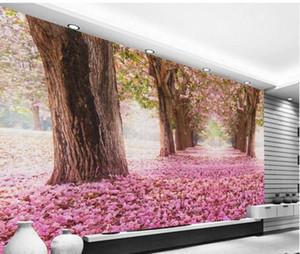 rose wallppaers de fleurs de cerisier mur de fond TV beau papier peint de paysages