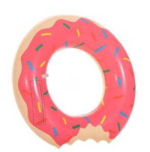 90 centimetri Donut Piscina rtubes piscina nuoto anello galleggiante per adulti Fragola e cioccolato nuotata suona acqua fluttuante zattera gonfiabile