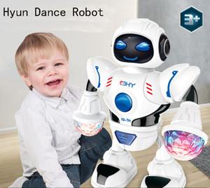 Çocuk eğitici oyuncaklar elektrik robot LED ışık müzik yansimasiz dans uzay robotu Bebek Müzik oyuncak p169