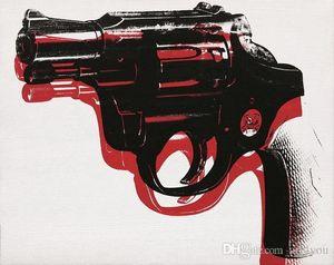 Célèbre Andy Warhol Pistolet Top Qualité Véritable À La Main HD Print Art Abstrait Peinture à l'huile Sur Toile Multi Taille a95