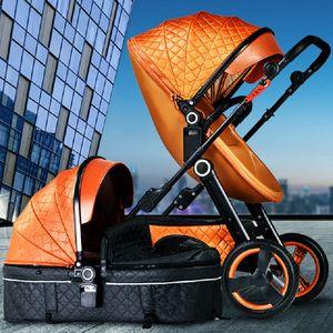 Baby Stroller 3 in 1  baby walker High Landscape Stroller tricycle Folding strollers trolley pram free shipping