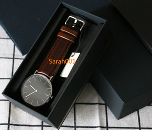 36mm 40mm Relojes + Negro Caja de reloj en este enlace Relojes de cuero de nylon de metal