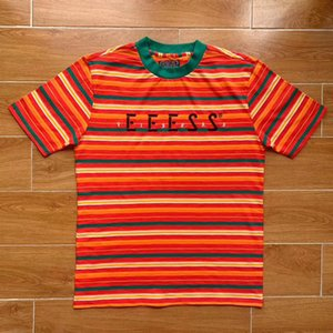 Trend J BALVIN Футболка с вышивкой и полосатой футболкой A $ AP ASAP Rocky Крупная футболка в полоску Мужчины Женщины Повседневные модные топы HFLSTX497
