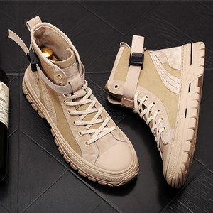 2020 men lace up military suede leather boots hip tops ankle army designer vintage durable tactical hip hop street wear shoes