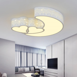 Modern Brief Children Bedroom Colorful Hear-Shape Hollow Iron LED Ceiling Lamp Home Decor Dining Room Acrylic Ceiling Light - AL40