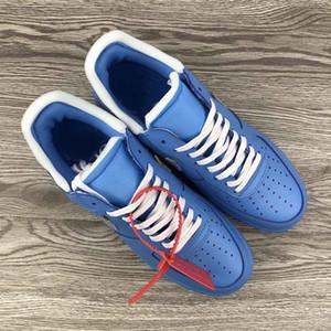 2020 mens del progettista di lusso di pallacanestro di modo calza gli uomini vestono MCA aria 1 mocassini BLU piattaforma in esecuzione scarpe da ginnastica formatori 7-12