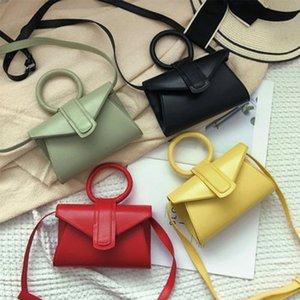 Women Fashion Waist Pack Mini Small Messenger Bag Elegant Designer Round Handle Crossbody Bag PU Girls Handbags