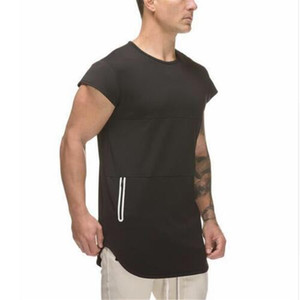 New Mens Short Sleeve Cotton T-shirt Gyms Fitness Workout T shirt Male Summer Casual Print O-Neck Slim Tees Tops Clothing