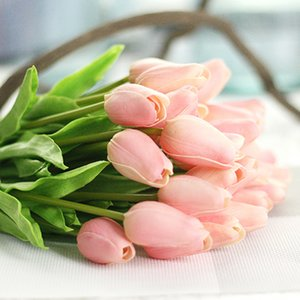 1PCS Tulip Artificial Flower Real Touch Artificial Bouquet Fake Flower for Wedding Decoration Flowers valentines day gift