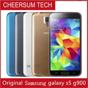"Yenilenmiş Orijinal Samsung Galaxy S5 G900A G900T G900V G900F Cep telefonları 5.1"" Super AMOLED Dört Çekirdek 16GB ROM Android Unlocke Cep Telefonu"