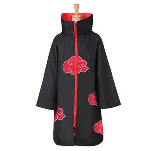 Naruto Kostüm Akatsuki Cloak Cosplay Sasuke Uchiha Cape Cosplay Itachi Giyim kostüm S-XXL