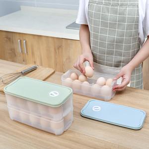 Frigorifero Egg Storage Box Egg Box Casa Cucina multistrato vassoio trasparente con coperchio Egg Conservazione Box