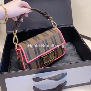 2020 Designer Crossbody Bag borsa da viaggio di marca borse moda Hardware lembo della busta F Lettera ricamo Donne postino retro messaggero della tela di canapa Ba