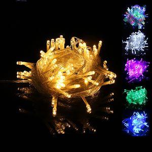 LED Strings Christmas Lights 10M 100 LED Strings Christmas Decoration Light 110V For Party Wedding LED Holiday Lighting Lamp DBC VT1055