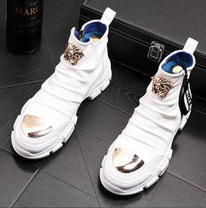 Chaussures de sport britanniques de style britannique décontracté hommes printemps automne automne top baskets de mode hip hop style solide de couleurs hommes chaussures W161