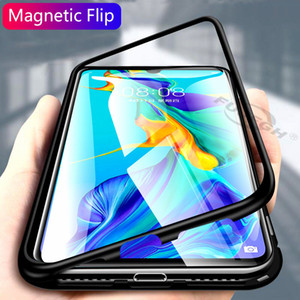 Magnetic Adsorption Metal Phone Case For Samsung Galaxy S8 S9 S10 Plus S10E S7 Edge Note 8 9 M20 M10 A30 A50 A7 A8 A9 J4 J6 Plus 2018