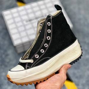 Com Box Womens J.W. JW Anderson Chuck Run Estrela Caminhada Sapatos Vulcanizados para Botas de Lona das Mulheres Sapatilhas Femininas Plataforma Sapato Meninas Sneaker