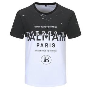 Luxuriöse 2019 Balmbrand T Shirts Bekleidung Designer-T-Shirts Schwarz Weiß der Frauen der Männer dünner Balm Frankreich Paris Marke