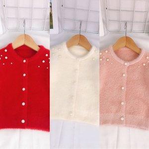 Imitation mink Pearl 2019 girls all-match soft Imitation mink wool Pearl coat 2019 girls coat cardigan all-match soft wool cardigan