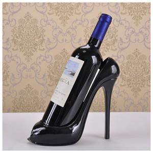 3 couleurs Bouteille de vin chaussures à talon haut Holder Wine Rack Sculpture pratique Racks Accueil Décoration Accessoires de qualité supérieure
