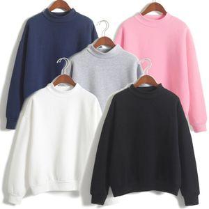 Turtleneck Blank Frauen Hoodies Sweatshirts Street Hip Hop Unisex Herbst Lässige Kleidung in Übergröße Cotton Pullover Hoody