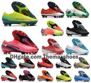 2020 hombres calientes Mercurial vapores XIII Elite FG CR7 13 Zapatos MDS 002 Rosa Ronaldo Neymar NJR SHHH sueño velocidad de 360 Fútbol Fútbol Tamaño 39-45