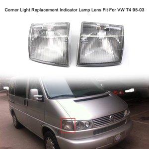 Carro Canto luz da lente de substituição Limpar Indicador Lens lâmpada Fit For VW T4 95-03 Par de nevoeiro