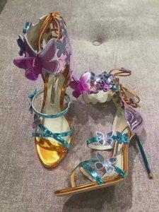 Vente-Designers Hot Sandales Sophia Webster Chaussures avec boucle cheville sexy talon aiguille mariée sandales Lady Gladiators