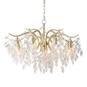 Современные Gold Metal Кри Luxury Home Гостиная подвеска лампа Art Decor Крепеж освещение PA0630