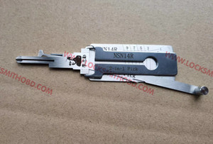 2020 New arrived Original lishi auto tools 2in1 pick Lishi NSN14R 2 in 1 lock pick and decoder for NISSAN right side