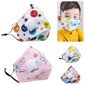 new Reusable Kids Face Mask with Air Valve and Filter plate Dust mask Travel windproof Riding mask breathable Designer Masks T2I51018