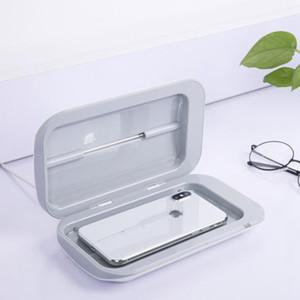Portable stérilisateur UV Box Case Sanitizer Boîte machine de désinfection pour masque Téléphone Montres Lunettes Sous LJJA3986 brosse à dents