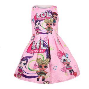 2019 vestidos do verão venda quente meninas miúdos bonecas impressos princesa desfile vestido meninas roupas 100-140