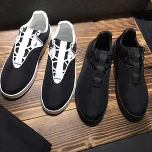 Uomo Scarpe Sneaker B17 tela nera in vitello Scarpe Low Top piattaforma degli uomini addestratori correnti Leggero gomma scarpe fondo Designer con la scatola