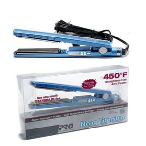 PRO 450F 1 1/4 Plaka Titanyum Saç Düzleştirici Doğrultma Ütüler Düz Demir Saç bigudi ABD / AB / İngiltere / AU Fişler