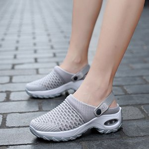 Summer Women Wedges Heel Slip On Sandals Shoes Casual Outdoor Comfort Slippers Sports Shoes