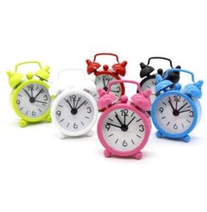 Мини Candy Цвет металла будильники Таблица Desktop циферблатом иглы Часы Функция Симпатичные карманные часы Портативный кухни часы