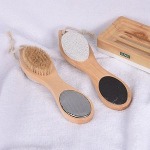 new Four in one foot grinder wood bristle cuticle removing and multi-functional foot Pumice brush bath SuppliesT2I51036