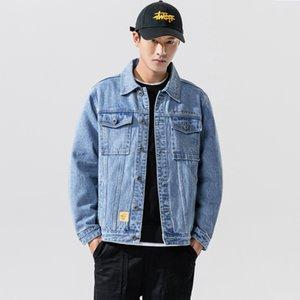 2020 New Men's Holes Blue Denim Coats Streetwear Denim Jackets High Quality Spring Autumn Men Outwear Casual Jean Jackets And Coats