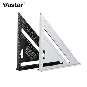 Cheap Gauges 7'' Triangle Angle Protractor Aluminum Alloy Speed Square Measuring Ruler Miter For Framing Building Carpenter Measuring Tools