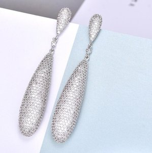 Zirkon Schmuck Wassertropfen Form Ohrringe Kristall Ohrringe für Frauen heiße Art und Weise frei shpping