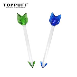 TOPPUFF Premium Glass Dabbler 5.12 Inch Wax Dab Tool Colorful Thick Pyrex Dabber Tools Quartz Banger Nails Dab Rigs Wholesale