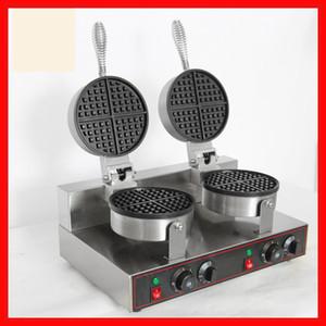 Doğrudan Deal Düşük Fiyat Ticari Paslanmaz Çelik Waffle Makinesi Çift Başkanları Yapışmaz Waffle makinesi 220V / 110V