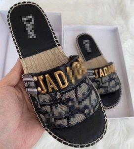 GRANVILLE 2020 summer luxury designer fisherman slippers cd sandals breathable casual half slipper women muller shoes fur slides c