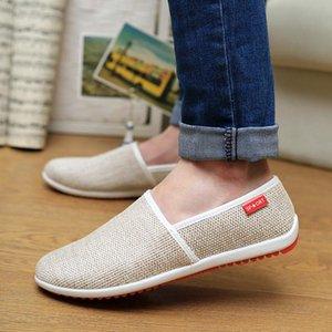 PADEGAO verano manera del ocio cómodo suave zapatos de los holgazanes de cada día de hombres Concisa plana resbalón en los zapatos de conducción colores mezclados