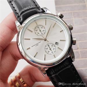 Top Brand di lusso capo famoso orologi di moda in pelle casuale degli uomini orologi orologio al quarzo con sveglia Uomini data giorno Relogio Masculino Drop Shipping