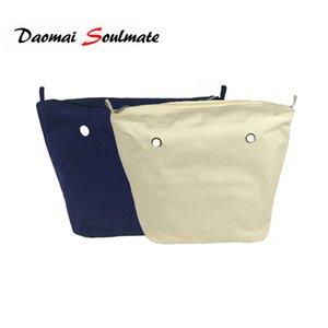 Clásico Mini Tamaño Impermeable Lona Sólida Insertar Forro interior Bolsillo con cremallera Para Obag O Bag Bolso Bolsa de silicona