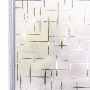 90 * 200 centímetros de Privacidade White Cross auto-adesivo fosco Window Film, Static Cling decorativa de vidro etiqueta da janela, UV bloqueio decalques Y200416